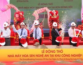 Tập đoàn Hoa Sen xây dựng liền 2 nhà máy tại Nghệ An