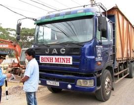 Siết chặt xử lý xe sang tải, dồn tải trước cổng Cảng Quy Nhơn