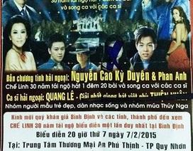 Live show Chế Linh bị hủy vì địa điểm diễn không an toàn