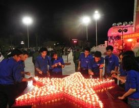Bình Định: Hơn 700 Đoàn viên thanh niên thắp nến tri ân Anh hùng Liệt sỹ