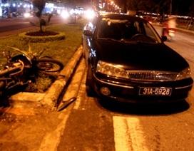 Tai nạn liên hoàn, xe biển xanh quay vòng tròn