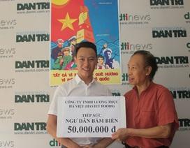 Công ty Lương thực Hà Việt ủng hộ 50 triệu đồng hướng về biển đảo quê hương