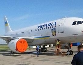 Chiêm ngưỡng máy bay mạ vàng của tổng thống Ukraina