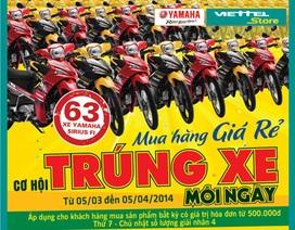 Hệ thống bán lẻ Viettel đã tìm ra 63 chủ nhân xe máy Yamaha Sirius Fi