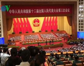 Bế mạc Kỳ họp thứ 3 Quốc hội Trung Quốc khóa 12 với nhiều quyết sách