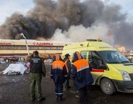 Nga: Bắt thêm 2 đối tượng của vụ cháy trung tâm thương mại