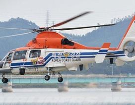 Trực thăng lao xuống biển ở Hàn Quốc, 4 người mất tích