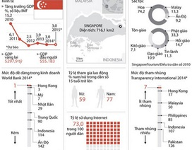[Infographics] Toàn cảnh kinh tế-xã hội của quốc đảo Singapore