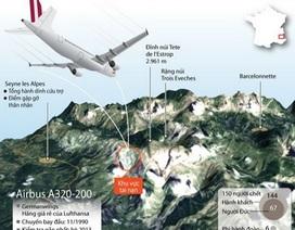 [Infographics] Địa điểm vụ tai nạn máy bay Airbus ở vùng núi Alps