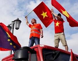 Truyền thông quốc tế đưa tin biểu tình ở Berlin phản đối Trung Quốc