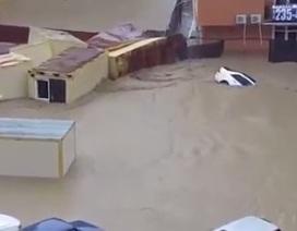 Lũ cuốn trôi ô tô, dân bơi trên phố tại Sochi