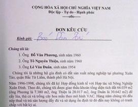 Công dân kiến nghị xem xét lại phương án bồi thường ở phường Xuân Tảo
