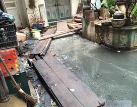 """Trải lòng chua xót của 12 hộ dân """"ngập chìm"""" trong ô nhiễm, xú uế giữa thủ đô"""