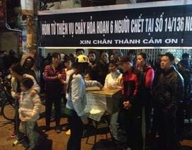 Vụ cháy nhà 6 người chết: Lập hòm công đức kêu gọi hỗ trợ nạn nhân