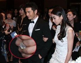 Angelababy khoe nhẫn kim cương do Huỳnh Hiểu Minh tặng