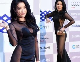 Mỹ nhân xứ Hàn mặc bạo tại lễ trao giải Rồng Xanh năm 2014
