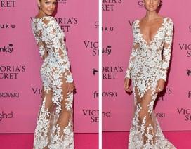 Siêu mẫu Nam Phi đẹp như tượng với váy xuyên thấu