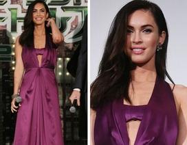 Megan Fox thướt tha trong chiếc váy tím