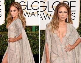 Jennifer Lopez đẹp như tượng trên thảm đỏ Quả cầu vàng