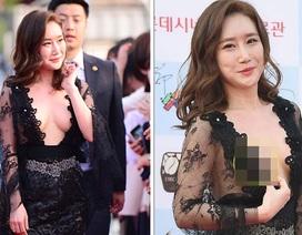 """""""Choáng"""" với màn khoe ngực """"phản cảm"""" của diễn viên xứ Hàn"""