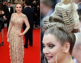 Ấn tượng với thời trang tóc của mỹ nhân Nga tại Cannes