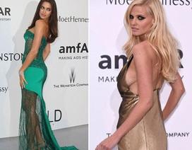 """Váy áo gợi cảm """"ngập tràn"""" tiệc từ thiện tại Cannes"""