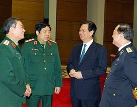 Thủ tướng: Quân đội phải làm tốt nhiệm vụ bảo vệ chủ quyền lãnh thổ