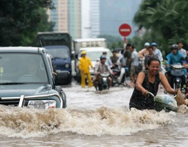 Yêu cầu xử lý tình trạng đường phố TPHCM ngập sâu cả mét nước