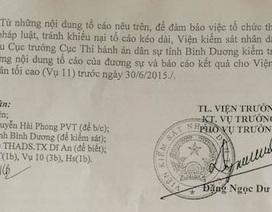 VKSND Tối cao yêu cầu Cục thi hành án Bình Dương xem xét đơn tố cáo của công dân
