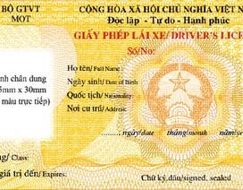 Gia hạn đổi giấy phép lái xe ô tô mẫu mới đến hết năm 2015