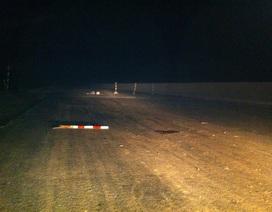 Một kỹ sư tử nạn do đâm vào rào chắn công trình