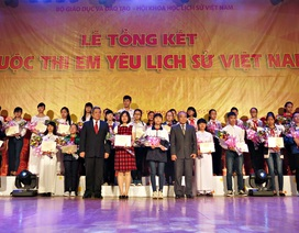 Trao giải thưởng cuộc thi Em yêu lịch sử Việt Nam