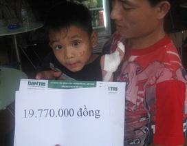 Gần 20 triệu đến với em bé bị điện giật