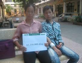 Hơn 83 triệu đồng đến với người mẹ có hai con bị ung thư