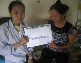 Gần 10 triệu đồng tiếp tục đến với hai mẹ con chị Hồ Thị Đông