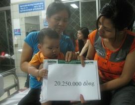 Hơn 20 triệu đồng đến với hai em bé bị nhiễm độc chì