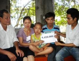 Cháu Nguyễn Viết Thành chuẩn bị nhập viện chữa bệnh