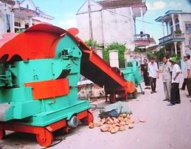 """Lão nông """"khùng"""" tự chế tạo máy xử lý rác"""