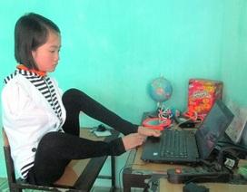 Nữ sinh nghèo viết ước mơ bằng... đôi chân