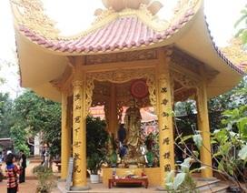 Dựng tượng Phật trái phép trong di tích Bà Triệu