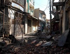 Cháy 8 căn nhà do đốt giấy vàng mã cúng ông Táo