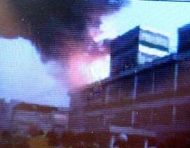 Cháy lớn tại công ty Pou Yuen Việt Nam