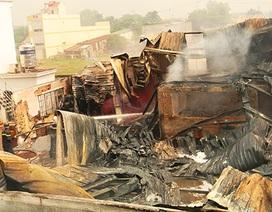 Xưởng sơn rộng hơn 1.000m2 bị lửa thiêu rụi