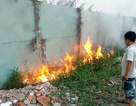 Bãi cỏ phát hoả, cả khu dân cư ngạt khói