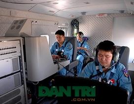 Hình ảnh máy bay CASA tìm kiếm trên biển