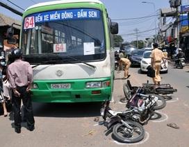 Tài xế xe buýt xử lý nhanh, 3 người thoát chết trong gang tấc