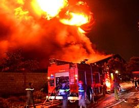 Cháy lớn tại bãi xử lý chất thải rắn