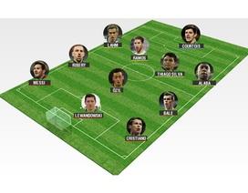 Marca công bố đội hình tiêu biểu năm 2013