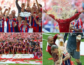 Allianz Arena ngập bia trong ngày Bayern Munich đăng quang