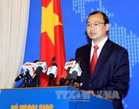 Việt Nam yêu cầu Trung Quốc chấm dứt ngay các hoạt động xâm phạm ở Biển Đông